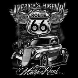 Tričko - Route 66 - Mother Road