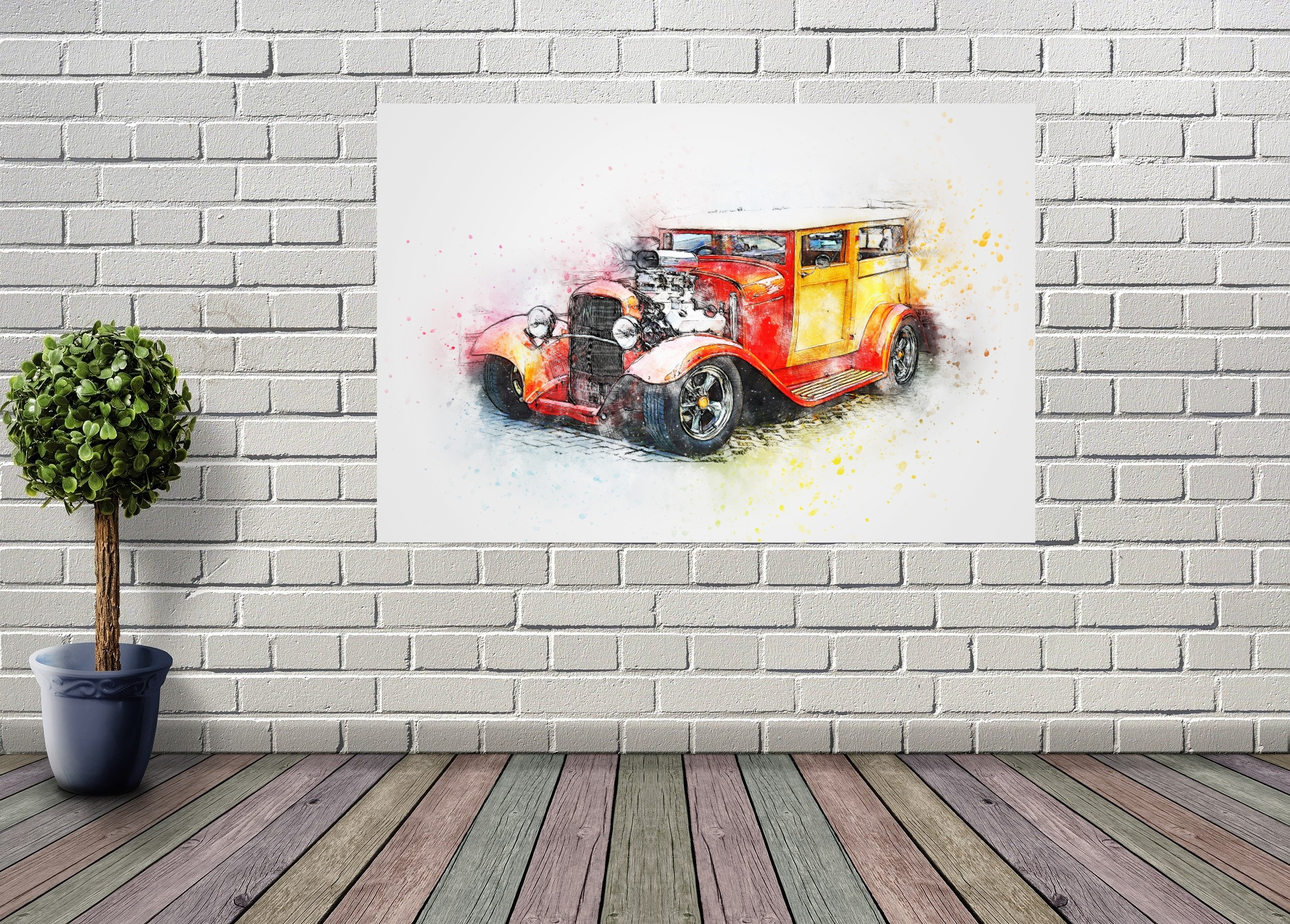HOT ROD 150x100 cm